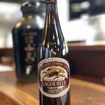やきとり 山鳥 - キリン クラシックラガー大ビン