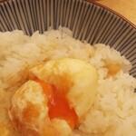 天ぷらめし 金子屋 - 天ぷらめし たまご 少しとろっとした感じです