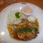 14514789 - 日替りランチ「若鶏のソテー照り焼きソース」+ライス・スープ¥714