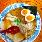 手打ち中華そば 和屋 - 半熟煮卵たまご焼豚麺大盛❗️