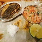 一徹 - 鮑の肝ソースと香箱蟹