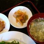 和唐 - 和唐 @中板橋 定食に付く溶き卵スープ・・搾菜・大根餅の甘酢あんかけ