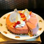 カフェトスカ - モワローフレーズ@ヨーグルトと苺のさっぱりとしたケーキ