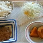 華さん食堂 - ●ご飯(小)・かぼちゃの煮物・サラダ・さばの味噌煮●