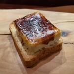 145187781 - フォアグラのブリュレとエスプレッソの食パン