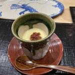 145188814 - 茶碗蒸し梅肉乗せ