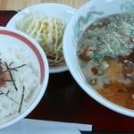 元祖タマユラーメン - ラーメンセット