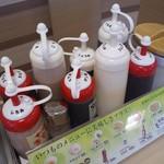 松屋 - 松屋 立命館大前店の卓上調味料(12.08)