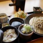 麺麺亭 そば御膳 - 料理写真:そば御膳(¥1280税込み)それぞれがレベルの高い次元で成立しています
