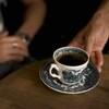 Cafe Tram - ドリンク写真:コーヒーはビンテージカップで