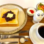 喫茶モーニング - 小倉トーストセット ¥630 ちなみに時間に関係なくモーニングやってます。