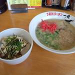 一竜 - ラーメン+辛マヨチャーシュー丼