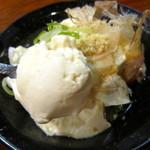 酒と肴のぬくもり宿 おふろ - 汲み上げ豆腐 350円