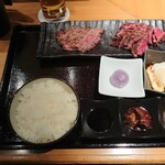 akasakakintan - 肉増しさがり&PRIMEハラミ御膳2,080円 202101