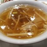 横浜中華街 中國上海料理 四五六菜館 - フカヒレスープ。