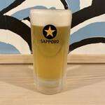 九州産直角打ち しらすくじら - サッポロ黒ラベル生ビール