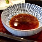 上野藪そば - 【天せいろう@1,890円】蕎麦つゆ