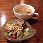 chaba - ランチのスープ&サラダ
