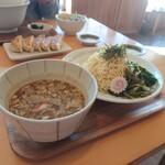魚介醤油ラーメン 和屋 - 料理写真:つけ麺と餃子