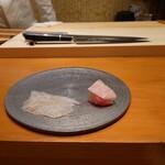 Sushi rebo - ヒラメ、金目鯛