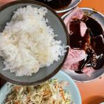美奈登 - みの、カルビ、サラダ、ご飯