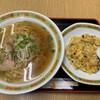 chuukaryouritsuruen - 料理写真:半チャンセット(半チャーハン、ラーメン)