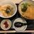 釜揚げうどんやしま - 丼セット ランチ:「ミニ天丼」と「きつねうどん」