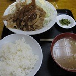 食事処 志野 - 豚肉支那竹炒め定食 ¥950-