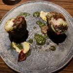 カパンナドルソ - 鮟鱇のローストに、マッシュルームのペーストが絡んでいます。おいひぃ〜(⊙ꇴ⊙)