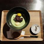 甘味処 てまり - 料理写真:抹茶白玉ぜんざい