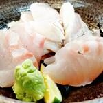 Kitanadagyokyouchokusou toretateshokudou - 鯛刺身定食