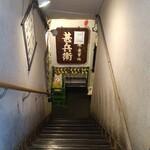 甚兵衛 - 地下に降りる階段