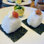 Onigirikafe - 梅、明太子クリームチーズ