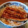のざき家 - 料理写真:2012.8 ランチのうな丼(半身1,100円)サラダ、香の物、肝吸いつき