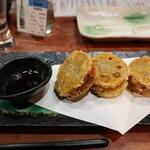 茨城串や まる久 - レンコン鶏はさみ揚げ