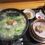 145272320 - 「海老と青菜の塩味湯麵」セット