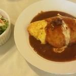 レストラン・カフェ クイーン - カレーオムライス650円