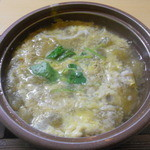 楽庵 - 茄子と鱧の卵とじ