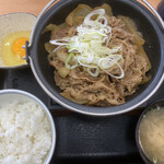 吉野家 - 牛の鍋焼き御膳