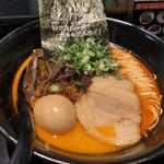 らうめん 侍の侍 - 甘えび香味(煮玉子)