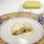 145299136 - ポティロンBコース (¥4,000) 本日の鮮魚のポワレサフランクリームソース