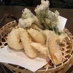 Kuu - 穴子と春野菜の天ぷら