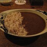 バー プルミエ - 「赤米のカレーライス」です。