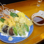 14530634 - 天ぷら盛り合せとハモ天ぷら