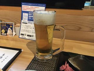 良酒屋 握 - 生ビールにて