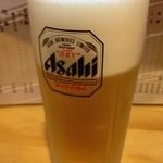 楽生 - ビールはスーパードライ