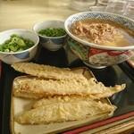 どんどん - 料理写真:モーニング肉[¥360]・ ごぼう天[¥110]