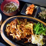 オモニキッチン - オジンオポックン定食(2012/08/28撮影)
