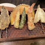 天ぷら酒場 NAKASHO - 天麩羅6種盛り