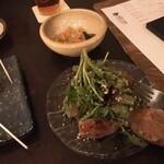 マミーズタミー - 梅水晶、ローストビーフとクレソンのサラダ仕立て